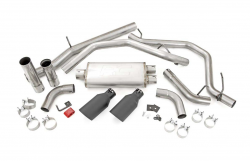 Rough Country - Rough Country DUAL CAT-BACK EXHAUST SYSTEM W/ BLACK TIPS (14-18 GM 1500 | 5.3L) - Image 2