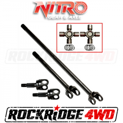 4340 Chromoly Axle Shafts - Dana 44 - Nitro Gear & Axle - Nitro 4340 Chromoly Front Axle Kit Dana 44, 07-18 Jeep Wrangler JK Rubicon, 30/32 Spl