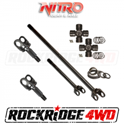 4340 Chromoly Axle Shafts - Dana 44 - Nitro Gear & Axle - Nitro HD Chromoly Front Axle Kit w/ 760 Excalibur U-Joints for 18+ Mahindra Roxor