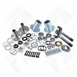 """Differential & Axle - Locking Hubs / Drive Flanges - Yukon Gear & Axle - Spin Free Locking Hub Conversion Kit for Dana 30 TJ, XJ, YJ, 30 Spline, 5 x 5.5"""" Pattern"""