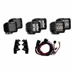 RIGID INDUSTRIES - Rigid Industries 2017-2020 Ford Raptor Complete Triple Fog Light Bucket Kit 41610