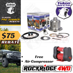 "Toyota - 8"" Standard Rotation 3rd Member 4 Cyl. / V6 / Turbo - Yukon Gear & Axle - Yukon Zip locker for Toyota V6 8"" Pickup, Hilux, FJ80 Front"