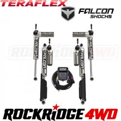 "TeraFlex JL 4dr: Falcon SP2 3.5 e-Adjust Piggyback Shock Kit (2-4.5"" Lift)"