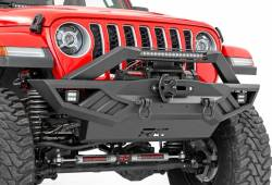 Jeep Wrangler JK 07-18 - Front Bumpers & Stingers - Rough Country - ROUGH COUNTRY JEEP FULL WIDTH OFF-ROAD FRONT BUMPER (JK,JL, GLADIATOR JT)