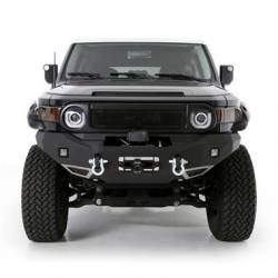 Smittybilt M1 Toyota FJ Cruiser Winch Mount Front Bumper with D-ring Mounts and Light Kit