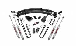 """FORD - 1980-1998 Ford F250, F350 - Rough Country - Rough Country 4"""" Suspension Lift Kit for Ford 87-97 F250- 490-87UP30"""